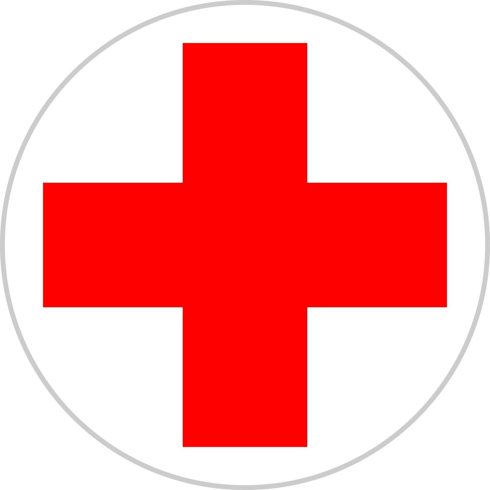 Rotes kreuz symbol  Aufkleber Rotes Kreuz DRK Erste Hilfe Verbandskasten 5 - 40 cm ...