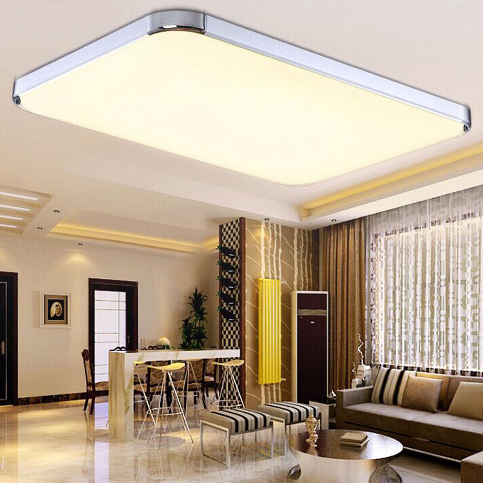 Dimmbar Deckenleuchte LED mit Fernbedienung Küche Deckenlampe Wohnzimmer 24w-72w • EUR 16,99 ...