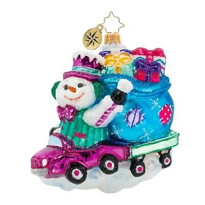 [NEW Christopher Radko CRUISING DOWN THE FREEZEWAY Christmas Ornament 1020417</Title]