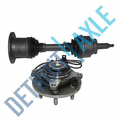 Front Driver or Passenger CV Axle Shaft + Wheel Hub and Bearing Assembly w/ ABS