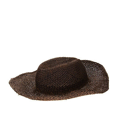 RRP €135 ISABEL BENENATO Straw Wide Brim Hat Size L Woven Unlined Made in Italy