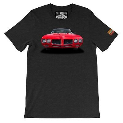 1970 GTO The Legend Classic Vintage Muscle Car Men's T-shirts  Made in USA - 1970 Mens Clothes