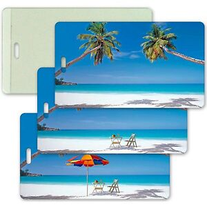 Beach Luggage Bag Travel Tag Animating All-Weather Lenticular #LT04-204#