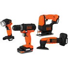 BLACK+DECKER 12V Power Tool Sets with 4 Tools