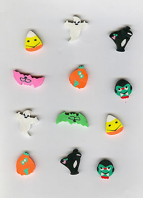 Twelve Halloween Mini FUN Shaped Erasers! Great party or prize idea! - Great Halloween Ideas
