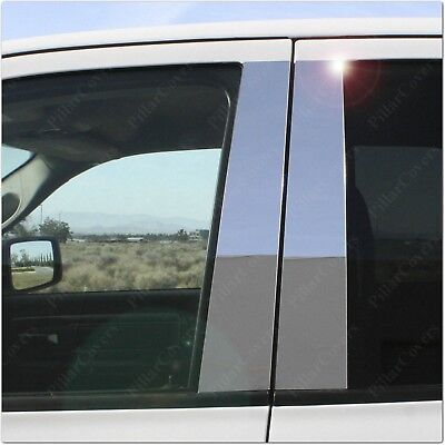 Chrome Pillar Posts for Ford Taurus 10-15 (Keyless) 6pc Set Door Trim Cover Kit