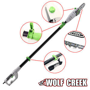 Telescopic Pole Saw Chainsaw Long Reach Pruner Wolf Creek Electric 750W Oregon