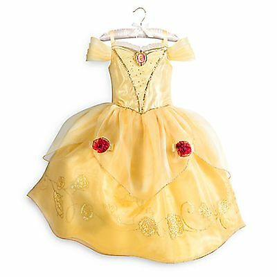 Disney Store Belle Dress Costume Beauty & the Beast Princess Rose Yellow 11/12  - Rose Princess Costume
