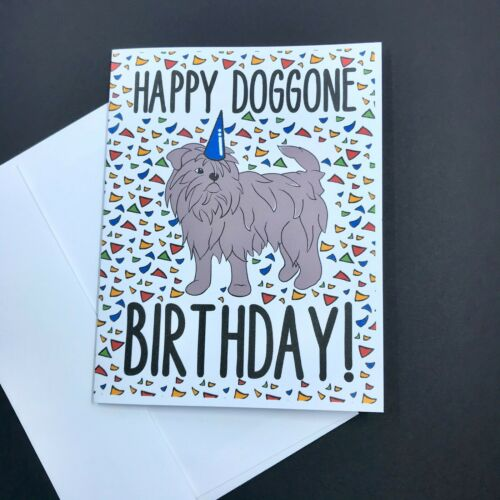 Affenpinscher Dog Happy Doggone Birthday Card