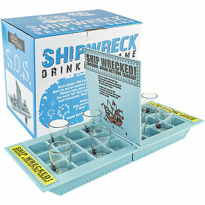 Halloween Drinking Game (SHIPWRECK DRINKING GAME Who Needs a Ship Take Your Shots Into Battle Board)