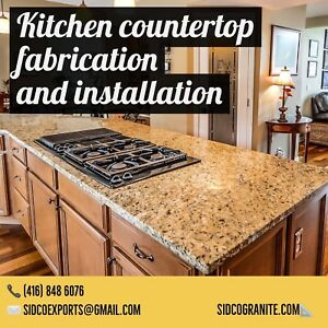 Kitchen countertop fabrication and installation