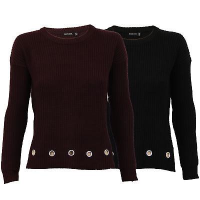Damen Kabel Gestrickte Pullover Pullover Sweatshirt von Brave Soul ()
