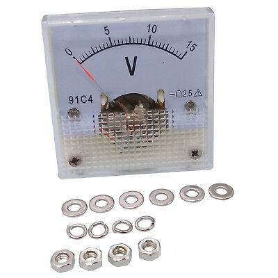 Us Stock Dc 0 15v Square Analog Volt Pointer Needle Panel Meter Voltmeter 91c4