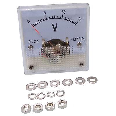 Us Stock Dc 0 15v Square Analog Volt Pointer Needle Panel Meter Voltmeter 91c4