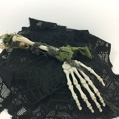 Halloween Decoration Hanging Skeleton Hand with Arm Spooky Party Decoration - Plastic Skeleton Hands