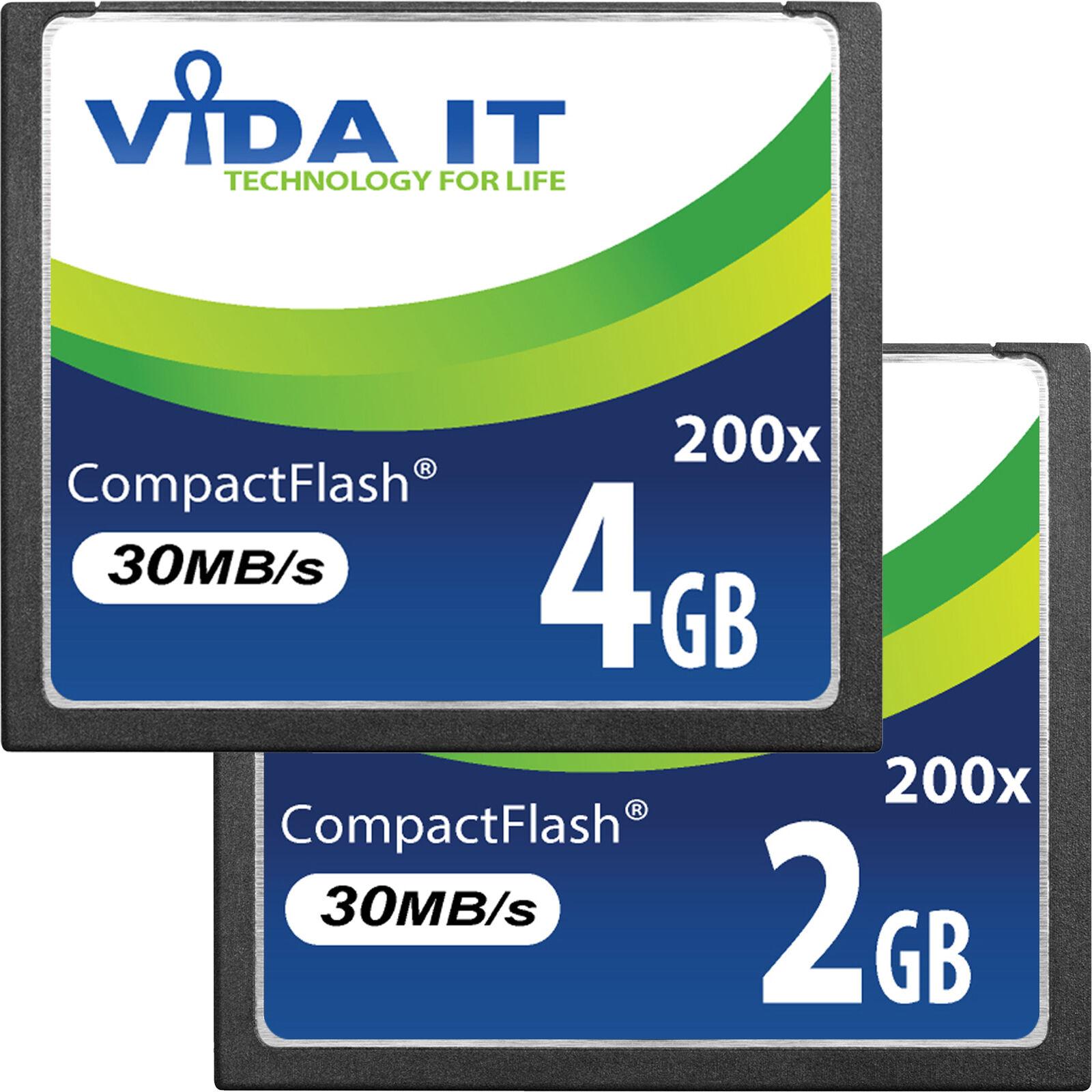 2GB 4GB CF Compact Flash Scheda Di Memoria Super Alta Velocità Per la Fotocamera