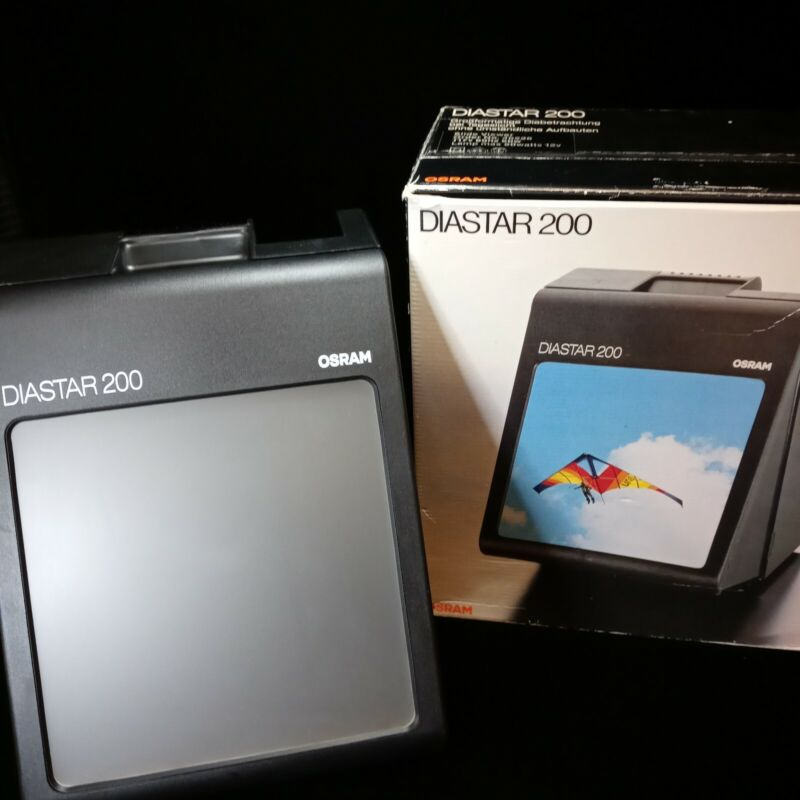 Osram Diastar 200 Slide Viewer Orig Box Larger Screen 35mm - 50mm Slides