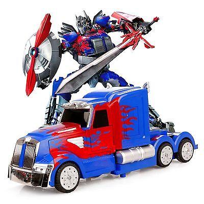 MZ Transformers 2335P RC IR Warrior Optimus Prime 8+ Remote Control Robot Car