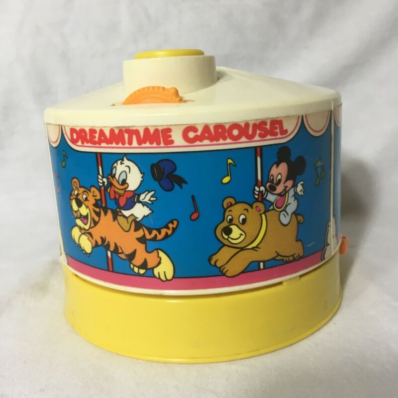 Vintage 1988 Disney Dreamtime Carousel Partially Working Plays Lights
