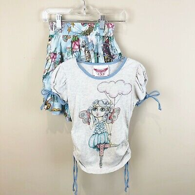 Paper Wings Organic Clothing Girls Size 5 Fairy Flight Top Skirt Outfit Set Paper Wings Clothing