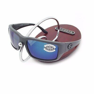 New Costa Del Mar Fantail Matte Gray   580 Blue Mirror Glass 580G