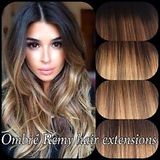 """Pre bonded Human Hair Extensions Ombre Balayage 18"""" 20"""" 1gram"""