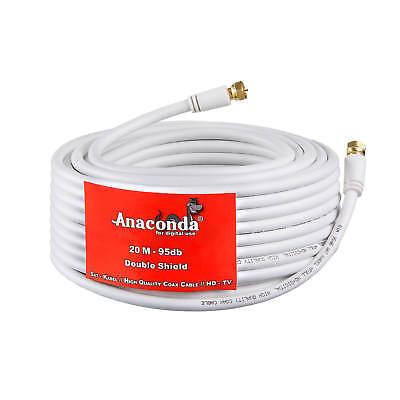 20m SAT HD DIGITAL KABEL Antennenkabel Koaxialkabel Full HDTV DVB-S2 4K HD+ SKY - 20 Kabel