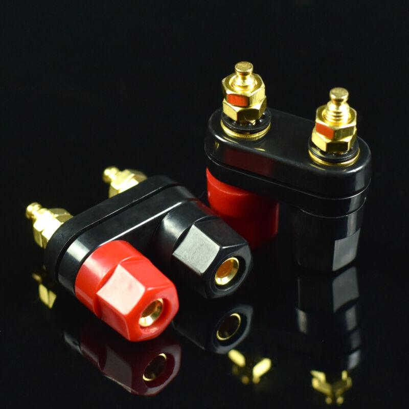 2 pcs Speaker Amplifier Terminal Binding Post Dual 2 way Banana Plug Jack