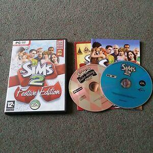 The-Sims-2-Festivo-Edicion-Pc-Dvd-Rom-Juego-de-base-Windows-Navidad-Edicion