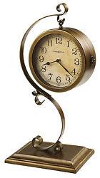 635-155 -JENKINS-HOWARD MILLER TWO SIDED SOFA TABLE MANTEL CLOCK