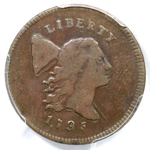 1795 C-4 R-3 PCGS F 15 Punctuated Date Liberty Cap Half Cent Coin 1/2c