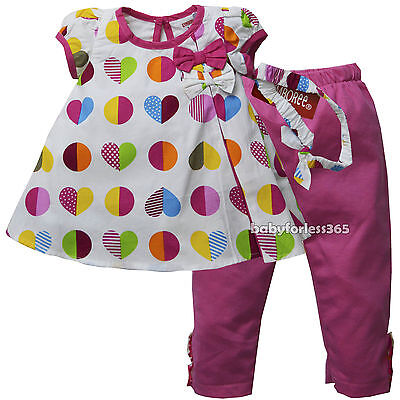 NWT Gymboree Baby Girls Shirt legging & Matching Headband Size 3 6 9 months