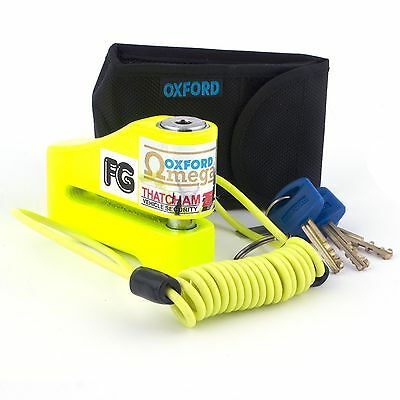 Oxford Omega Motorbike Motorcycle Disc Lock Thatcham Approved Yellow OF26N