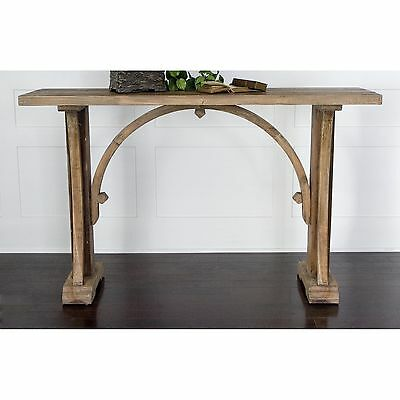 French Antique Salvaged Style WOOD Sofa Console TABLE Entry, TV, (French Style Sofa Table)