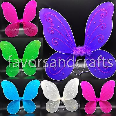 Adult Pixie Wings Fairy Pink Blue Large Butterfly Tu Tu Dress Up Girls Costume - Butterfly Costume