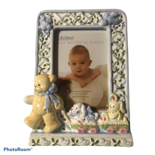 C.R. Gibson Baby Picture Frame 5 x 7 or 4 x 6 Pre-Owned