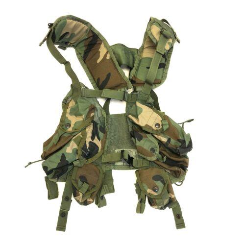 US Military Load Bearing Vest, Enhanced, Woodland BDU Camo Tactical Vest LBV