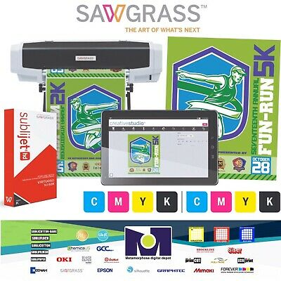 Sawgrass Virtuoso Vj 628 Large Format Enhanced Sublimation Printer Kit Free Ship