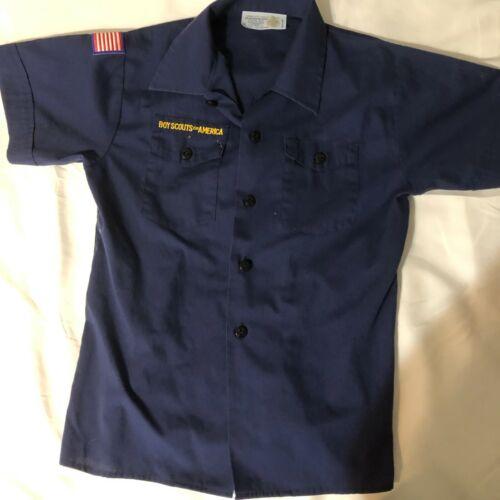 Official BSA Boy Scout Cub sht slv uniform shirt no patches y med