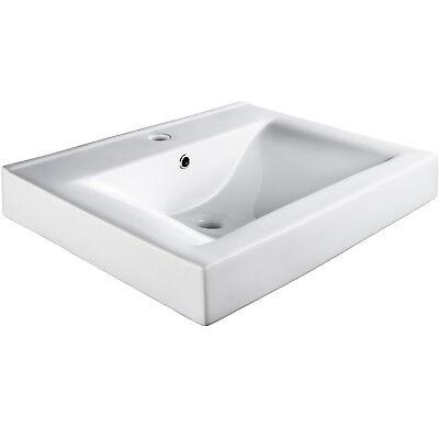 Keramik Waschbecken Handwaschbecken Waschtisch rechteckig Hand Waschbecken weiß  Waschbecken