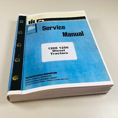 International 1206 1256 Diesel Tractor Service Repair Shop Manual Ih