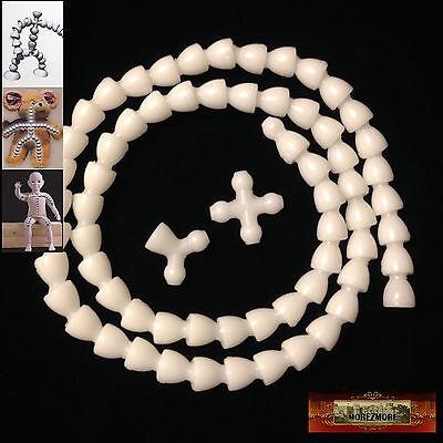 """M01255 MOREZMORE Flexible Ball Socket Armature Kit 1/8"""" Doll Bear Lock-Line T20"""