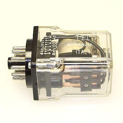 ITT RM833212 12VDC 3PDT 10A 11-Pin Plug-In Relay, New
