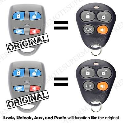 2 Remote For Automate Aftermarket Keyless Entry Car Key Fob Control -