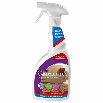 Acana Carpet & Fabric Moth Killer With Lavender Freshener Spray - 500...