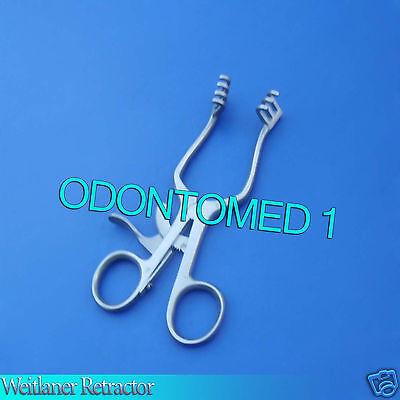 10 Pcs Surgical Weitlaner Retractor 5.5 Blunt 3x4 Prongs Veterinary Instruments
