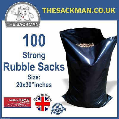 100 Rubble Bags Size 20x30