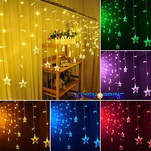 12-ABRIR-Y-CERRAR-Estrellas-Navidad-Hada-Cadena-de-luces-Ventana-Fiesta-Adorno