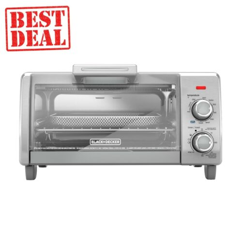 BLACK+DECKER Crisp 'N Bake Air Fry 4-Slice Toaster Oven, TO1787SS