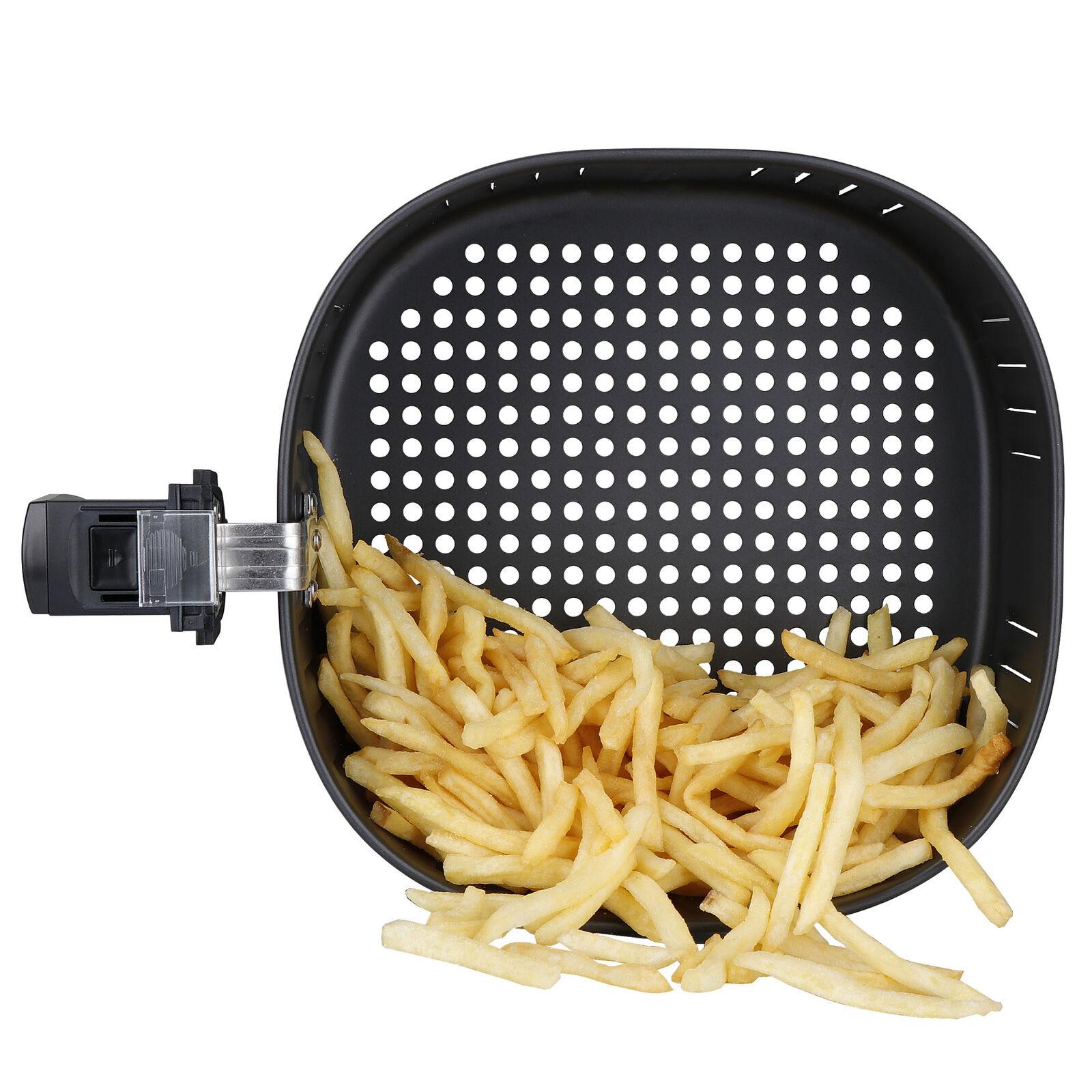 7.6QT Large Air Fryer w/Capacity Expansion Rack 1700W Digital Screen Fryers